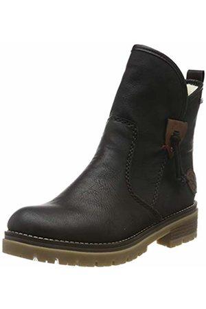 Rieker Women's Herbst/Winter Ankle Boots, Schwarz/Brandy 00