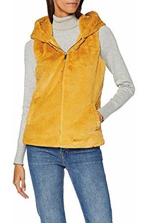 Only Women's Onlvida Faux Fur Hooded Waistcoat OTW Outdoor Gilet, Golden