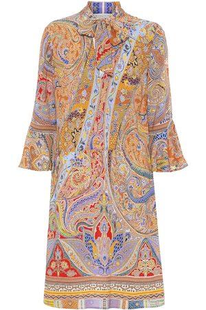Etro Printed stretch-cotton minidress