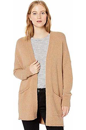 Daily Ritual Cozy Boucle Coatigan Sweater Camel Heather