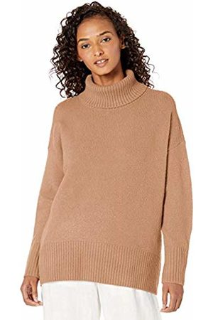 Daily Ritual Cozy Boucle Turtleneck Sweater Camel Heather