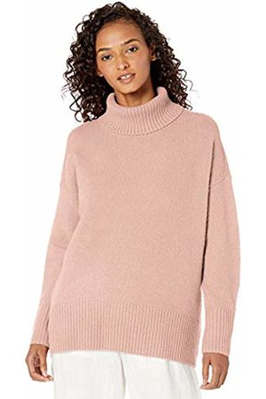 Daily Ritual Cozy Boucle Turtleneck Sweater Pale Mauve