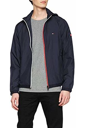 Tommy Hilfiger Men's RED WHITE ZIP JACKET Jacket (Sky Captain 403)