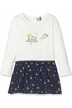 3 Pommes Baby Girls' 3p30052 Robe Bimatiere Dress, Off- Off- (Blanc Cassé 19)