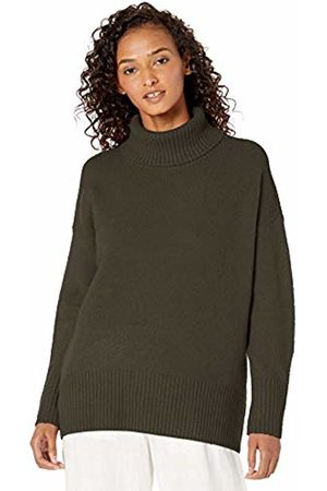 Daily Ritual Cozy Boucle Turtleneck Sweater Olive