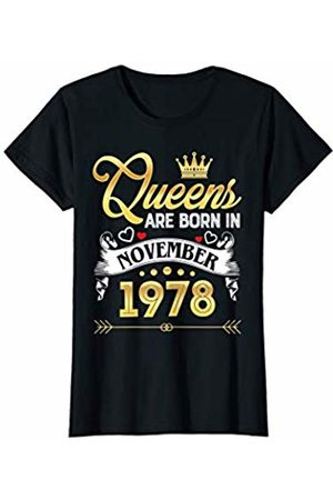 This Queen Was Born in November Queen T shirt Womens November 1978 Shirt 41 Years Old 41st Birthday Queen T-Shirt
