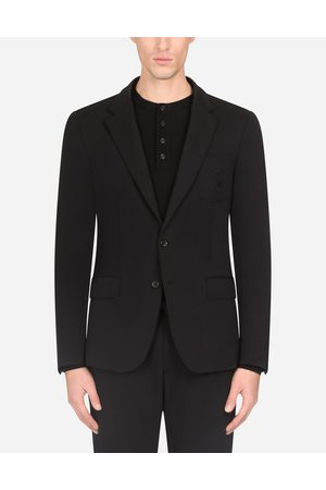 Dolce & Gabbana Coats and Blazers - STRETCH JERSEY JACKET WITH EMBROIDERY