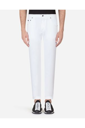 Dolce & Gabbana Trousers - FIVE POCKET TROUSERS IN STRETCH COTTON