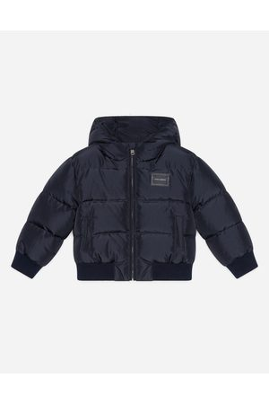Dolce & Gabbana Topwear - NYLON DOWN JACKET WITH HOOD AND PLATE