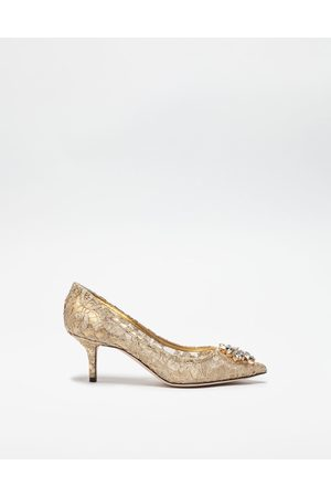 Dolce & Gabbana Pumps - PUMP IN TAORMINA LUREX LACE WITH CRYSTALS