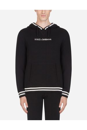 Dolce & Gabbana Knitwear - WOOL KNIT WITH HOOD AND EMBROIDERY