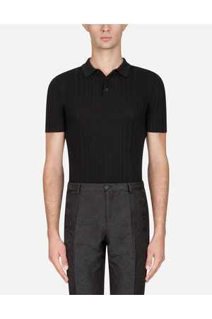 Dolce & Gabbana T-Shirts and Polo - WOOL KNIT POLO SHIRT