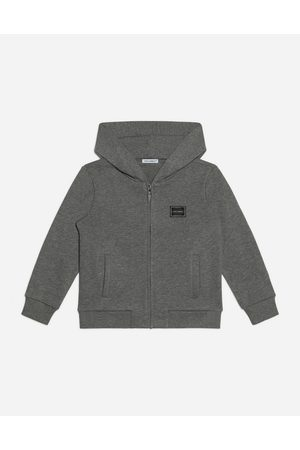 Dolce & Gabbana Knitwear and Sweatshirts - JERSEY HOODIE WITH PLATE