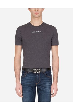 Dolce & Gabbana T-Shirts and Polo - COTTON T-SHIRT WITH EMBROIDERY