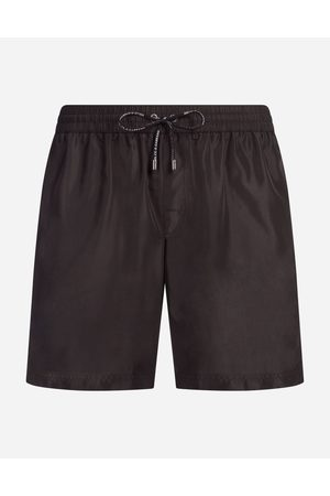 Dolce & Gabbana Beachwear - MID SWIMMING TRUNKS WITH POUCH BAG