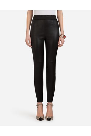 Dolce & Gabbana Trousers and Leggings - LEATHER PANTS