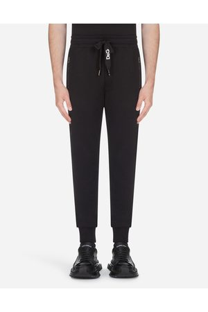 Dolce & Gabbana Men Trousers - Trousers - COTTON JOGGING PANTS WITH EMBROIDERY
