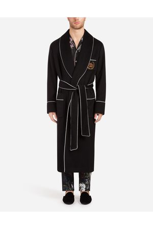 Dolce & Gabbana Blazers and Coats - CASHMERE COAT WITH PATCH
