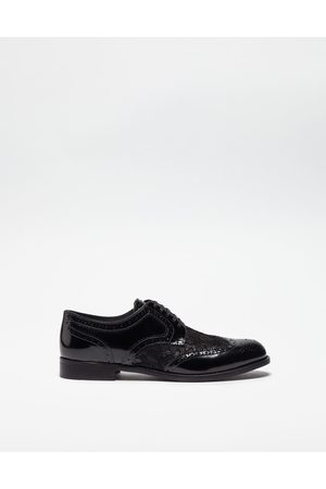 Dolce & Gabbana Slippers and Derby - LEATHER DERBY SHOE WITH LACE DETAIL