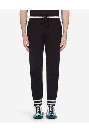 Dolce & Gabbana Trousers - KNIT JOGGING PANTS WITH EMBROIDERY