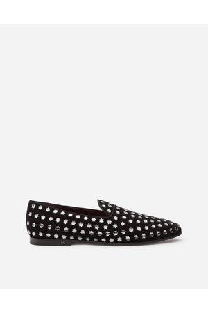 Dolce & Gabbana Loafers and Slippers - SUEDE SLIPPERS WITH FUSIBLE STARS