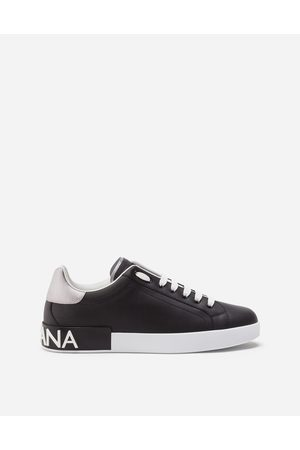 Dolce & Gabbana Sneakers and Slip-On - CALFSKIN NAPPA PORTOFINO SNEAKERS
