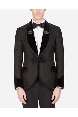 Dolce & Gabbana Blazers and Coats - JACQUARD TUXEDO SMOKING JACKET WITH PATCH