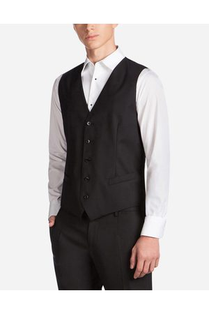 Dolce & Gabbana Blazers and Coats - FIVE BUTTON VEST IN WOOL