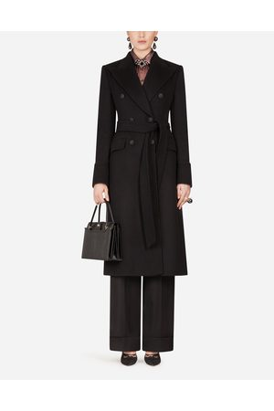 Dolce & Gabbana Coats and Jackets - DOUBLE-BREASTED WOOLEN CLOTH BELTED COAT