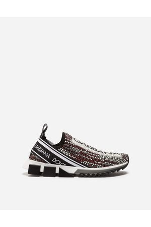 Dolce & Gabbana Sneakers and Slip-On - SORRENTO SNEAKERS WITH RHINESTONES
