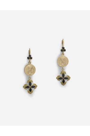Dolce & Gabbana Women Necklaces - Jewelry - DROP EARRINGS WITH SAPPHIRES
