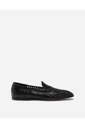 Dolce & Gabbana Loafers and Moccasins - HAND-WOVEN SLIPPERS