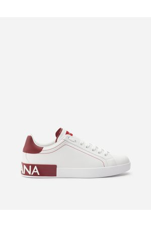 Dolce & Gabbana Men Trainers - Sneakers and Slip-On - CALFSKIN NAPPA PORTOFINO SNEAKERS