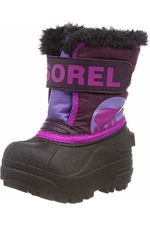 sorel Children Unisex Boots, CHILDRENS SNOW COMMANDER, ( Dahlia/Paisley )