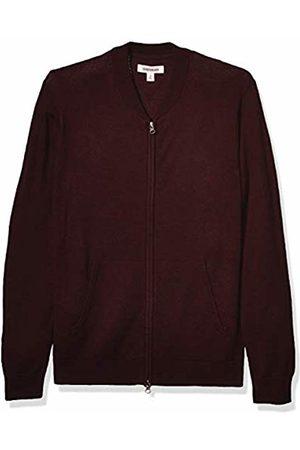 Goodthreads Merino Wool Bomber Sweater Burgundy