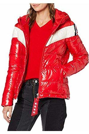 Invicta Women's Giubbino Ski Glossy Bicolor Coat, (Rosso/Blu Scuro 149)