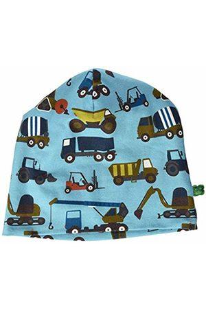 Green Cotton Boy's Crane Beanie Hat, (Water 015441501)