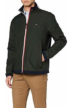 Tommy Hilfiger Mens RED White Zip Jacket Jacket (Rosin 322)