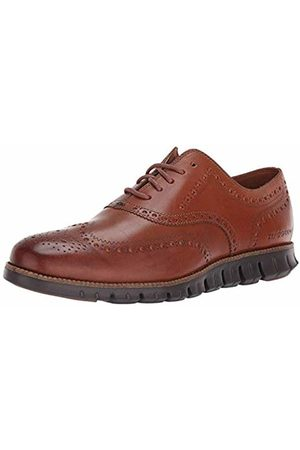 Cole Haan Men's Zerogrand Wingtip Oxford, Leather British Tan/Java