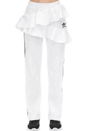 adidas Ruffled Velvet Track Pants