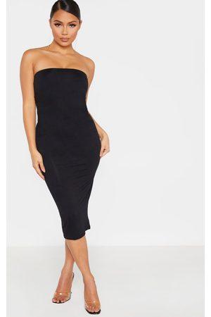 PRETTYLITTLETHING Petite Bandeau Jersey Midi Dress