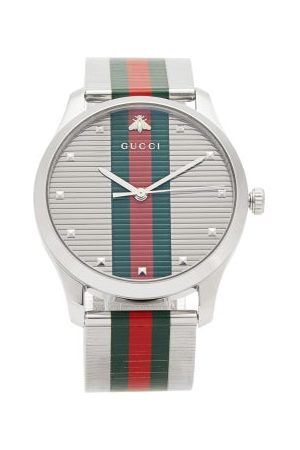 Gucci G-timeless Web-stripe Stainless-steel Watch - Mens - Multi