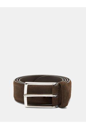 Anderson's Men Belts - Buckled Suede Belt - Mens - Dark