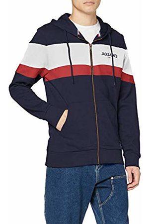 Jack & Jones Men's JORNEWSHAKEDOWN Block Sweat Zip Hood Track Jacket