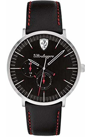 Scuderia Ferrari Mens Multi dial Quartz Watch with Leather Strap 0830565