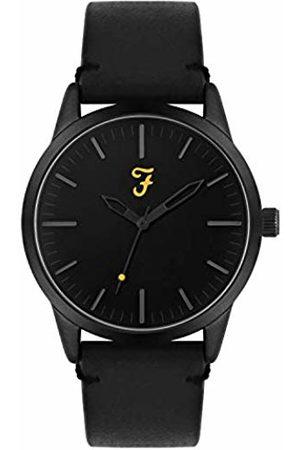 Farah Unisex Adult Analogue Classic Quartz Watch with Leather Strap FAR2003