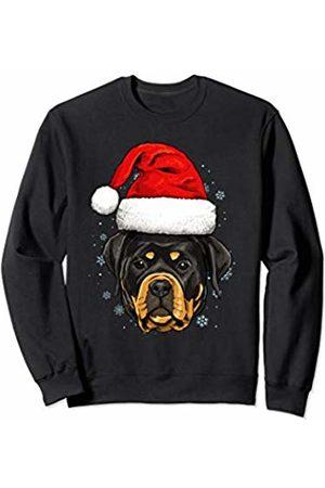 Wowsome! Rottweiler Santa Hat Christmas Boys Girls Xmas Gift Sweatshirt