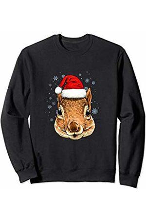 Wowsome! Squirrel Christmas Santa Hat Xmas Gifts Kids Boys Girls Sweatshirt