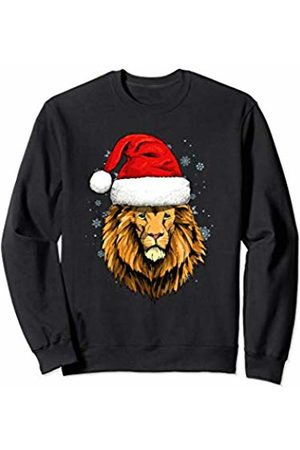 Wowsome! Lion Christmas Santa Hat Xmas Gifts Kids Boys Girls Sweatshirt