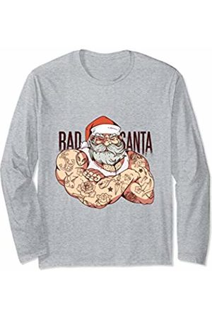 Funny Christmas Gifts Accessories Funny Christmas Bad Santa Claus Tattoo Artist Men Women Gift Long Sleeve T-Shirt